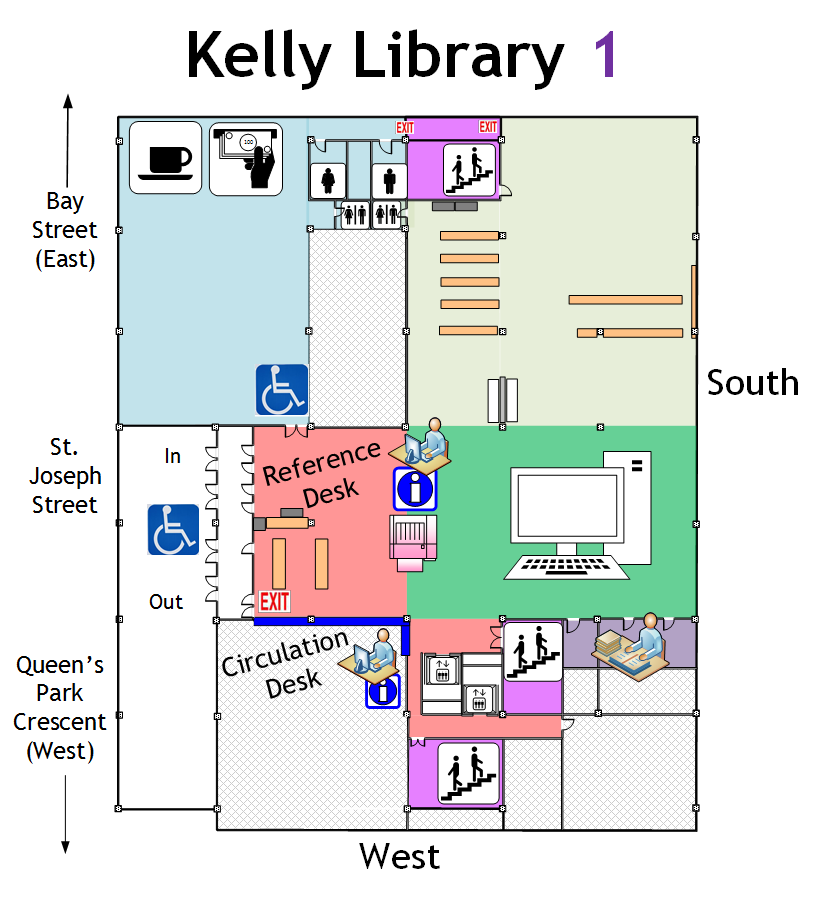Kelly Library Ground Floor Map