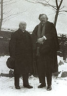 Monsignor John O'Connor with G.K. Chesterton