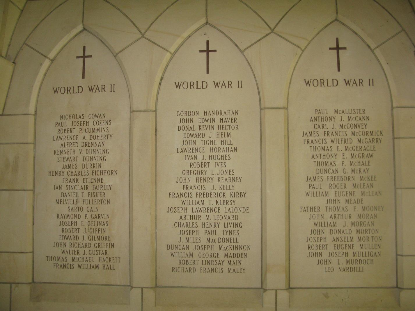 Memorial to the Fallen WW2