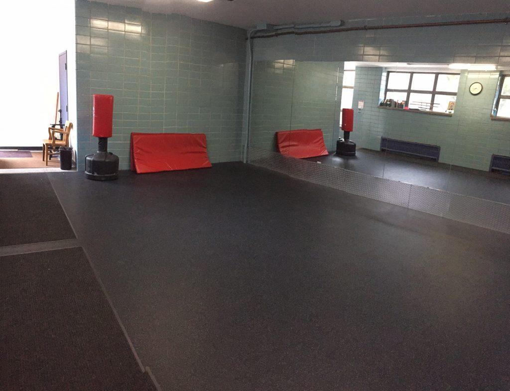 Wellness Studio Flooring and Mirrors