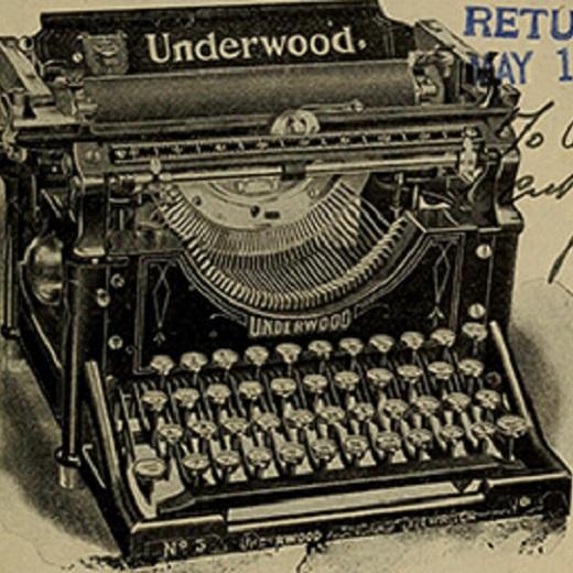 Image depicts the underwood typewriter