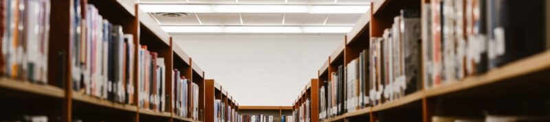 Image of Library shelves filled with books