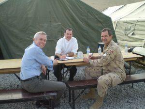 President Mulroney alongside Stephen Wallace.