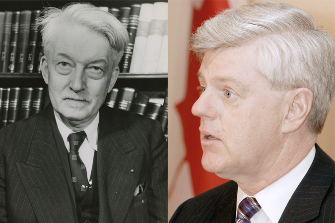 Past St. Michael's Professor Jacques Maritain and former Deputy Prime Minster of Canada John Manley
