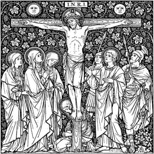 Image depicts the photo for the Lenten poster