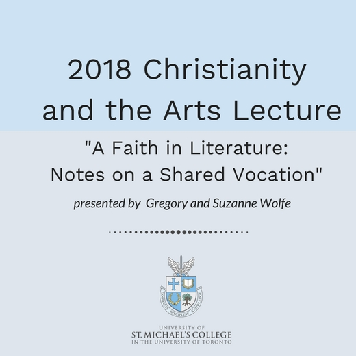Image depicts the poster for the Christianity and the Arts Lecture