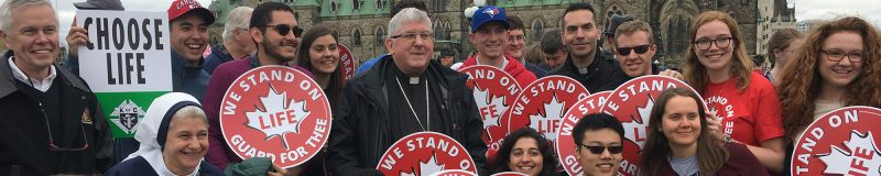 Image depicts a March for Life Photo in Ottawa