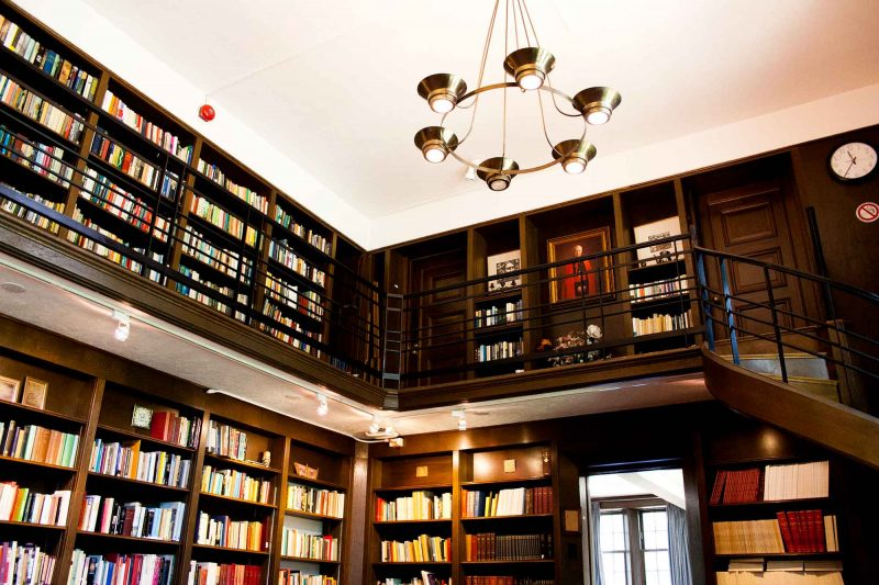 Image depicts the inside of the PIMS library