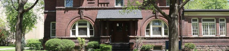 Image depicts the outside of Founders house