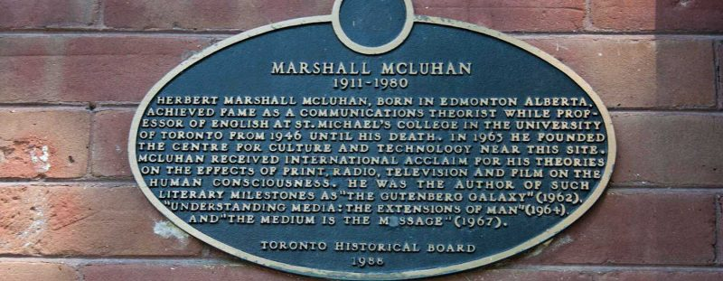 Image depicts Marshall McLuhan plaque