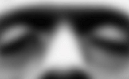 Image depicts a blurred picture of Frankenstein's face