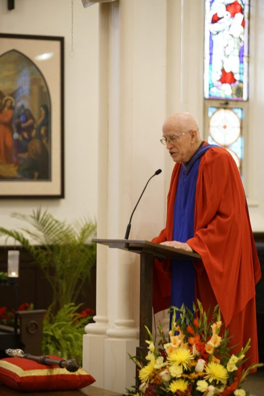 Fr. James Heft delivers the Convocation address