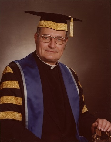 Fr. Peter Swan, CSB, in an official photo for his installation as president and vice-chancellor of St. Michael's in 1978.