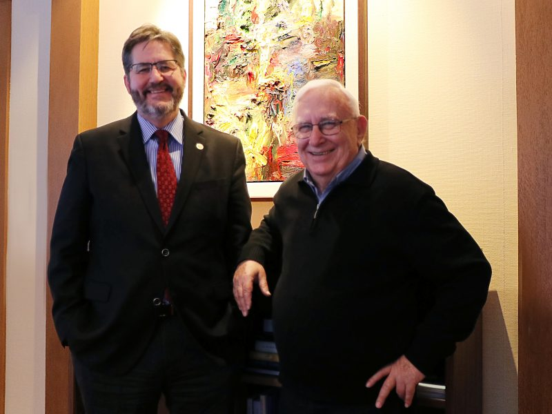 USMC President Dr. David Sylvester and Fr. Jack Lynch, General Superior of the Scarboro Missions