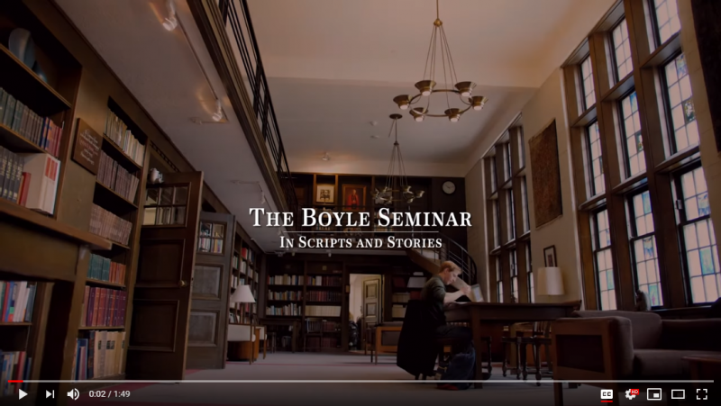 Click here to watch a video about the Boyle Seminar.