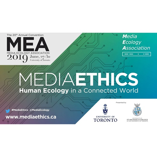 Image depicts the Media ethics event post card