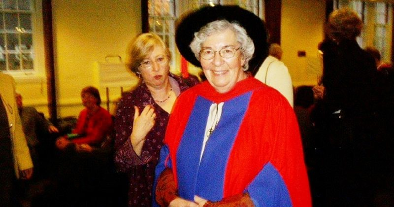 Image depicts Sr. Margaret Myatt, CSJ received an honorary doctorate from the St. Michael's Faculty of Theology in 2005.
