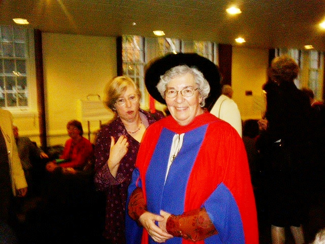 Sr. Margaret Myatt, CSJ received an honorary doctorate from the St. Michael's Faculty of Theology in 2005.