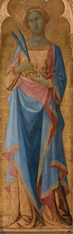 c.1350 altarpiece painting of St. Corona by Master of Palazzo Venezia Madonna