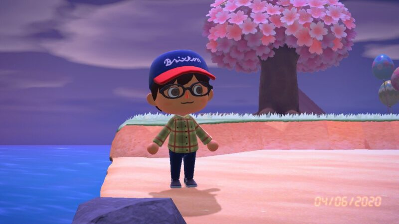 An avatar from the game Animal Crossing