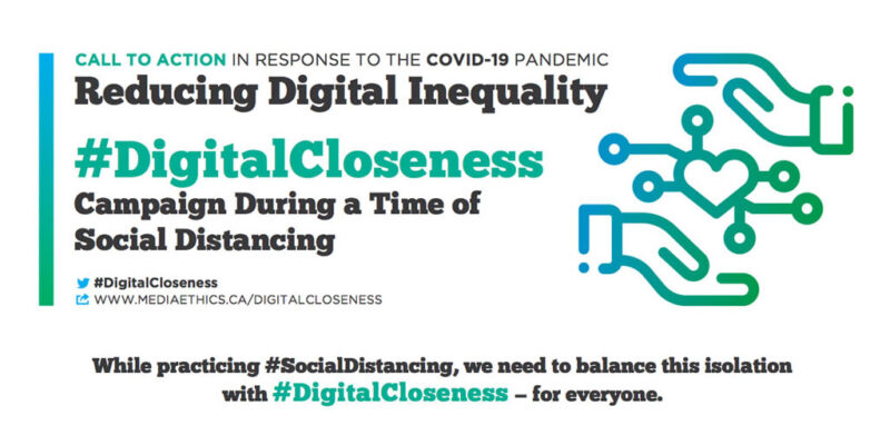 A graphic banner with information about the Digital Closeness initiative.
