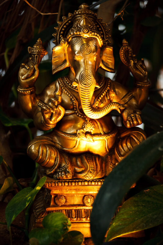 Statue of the Hindu God Ganesha.