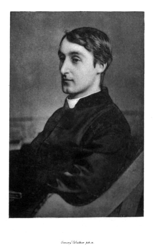 A portrait of the poet Gerard Manley Hopkins.