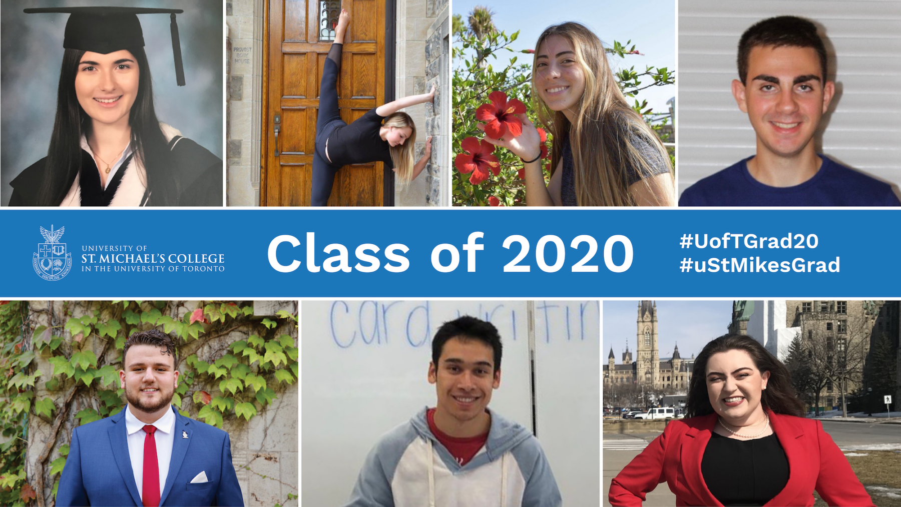A decorative header for the story linked in the image caption about how the Class of 2020 will remember most about St. Michael's.