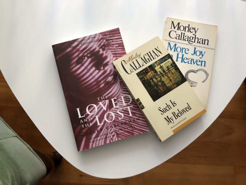 Photograph of Matt Doyle's collection of Morley Callaghan books