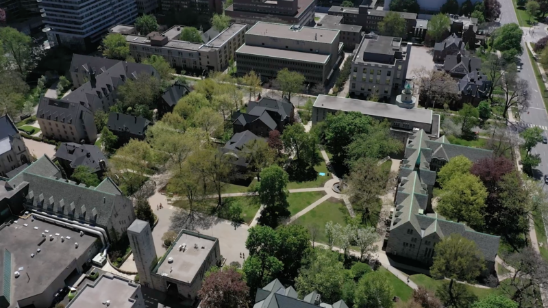 Aerial shot of the St. Mike's campus