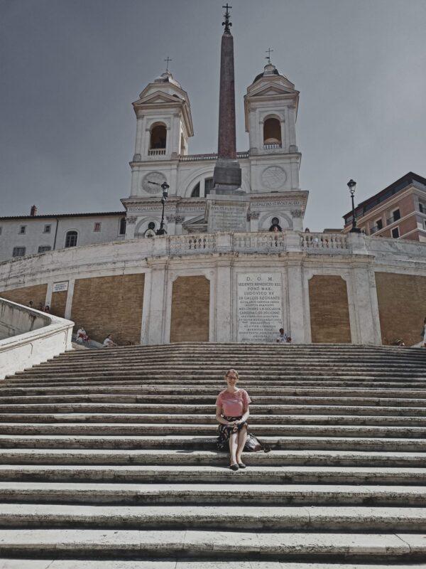 Image of Alumna Rachel Ottenbreit on the Spanish Steps in Rome.