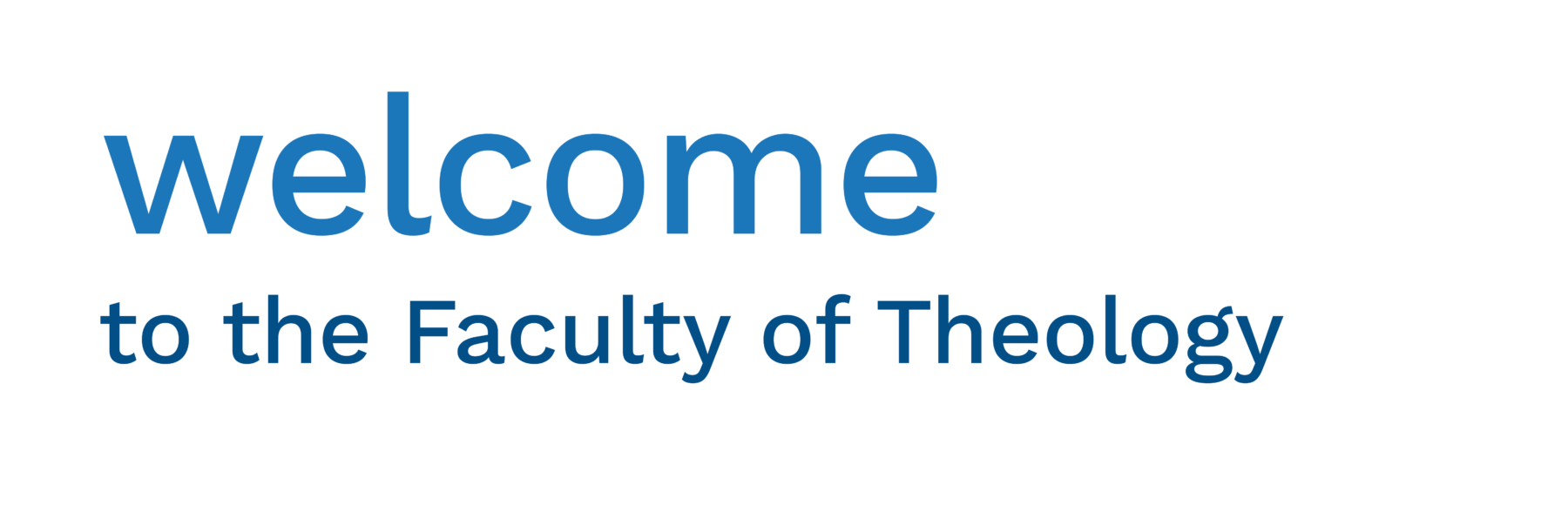 Welcome to the Faculty of Theology