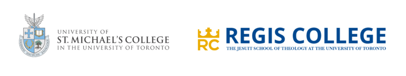 the logos of the University of St. Michael's College and Regis College