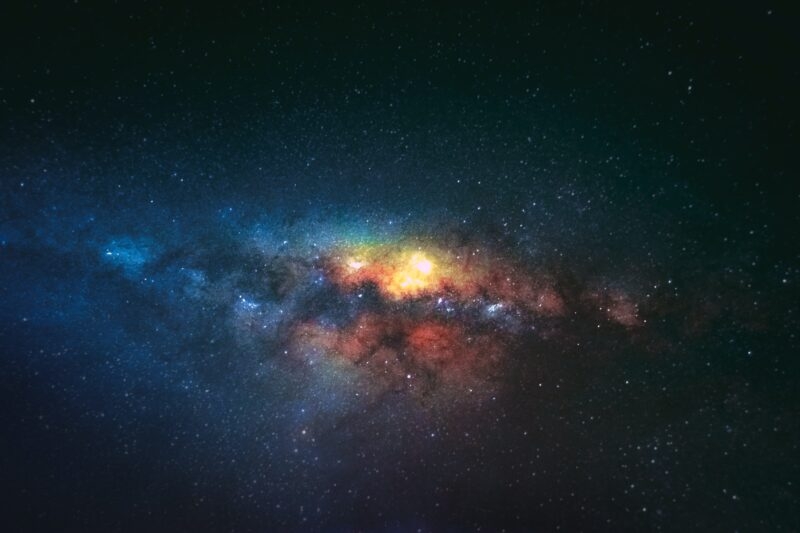 Colourful galaxy photograph