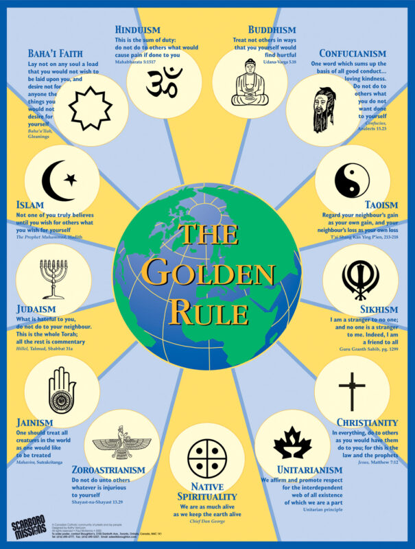 Scarboro Missions Golden Rule Poster