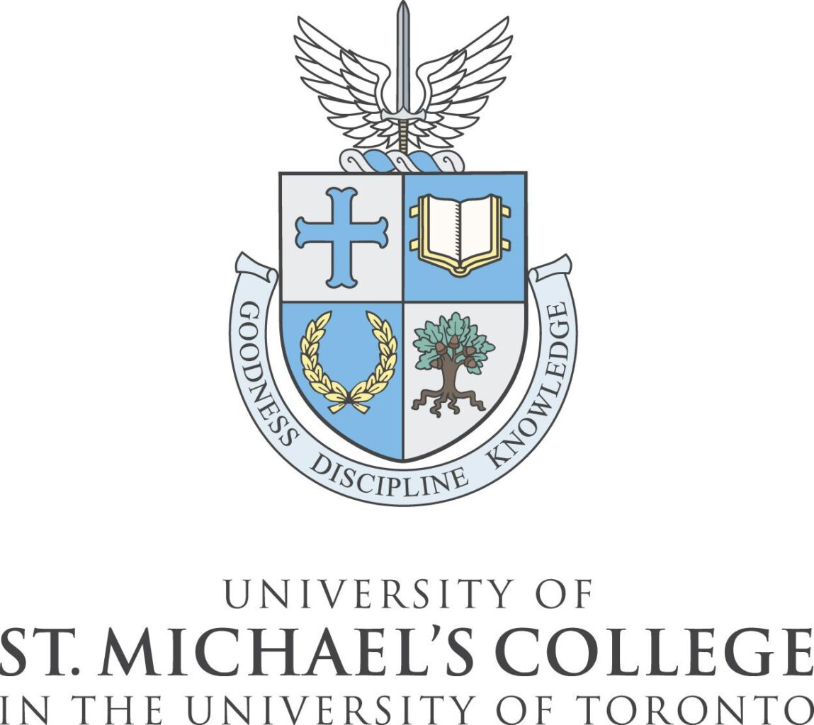 The logo of the University of St. Michael's College