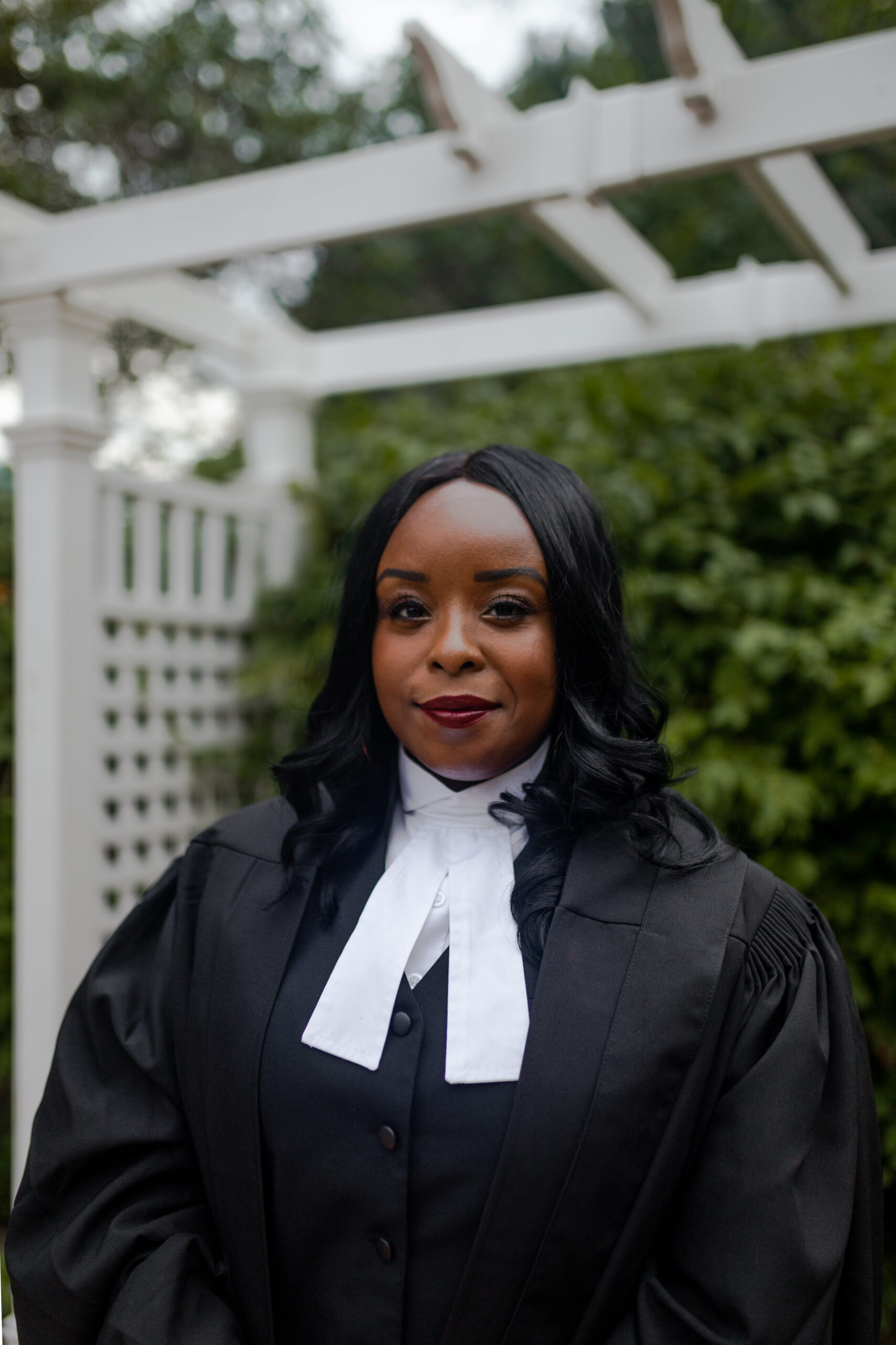 Samantha Peters in judicial robes