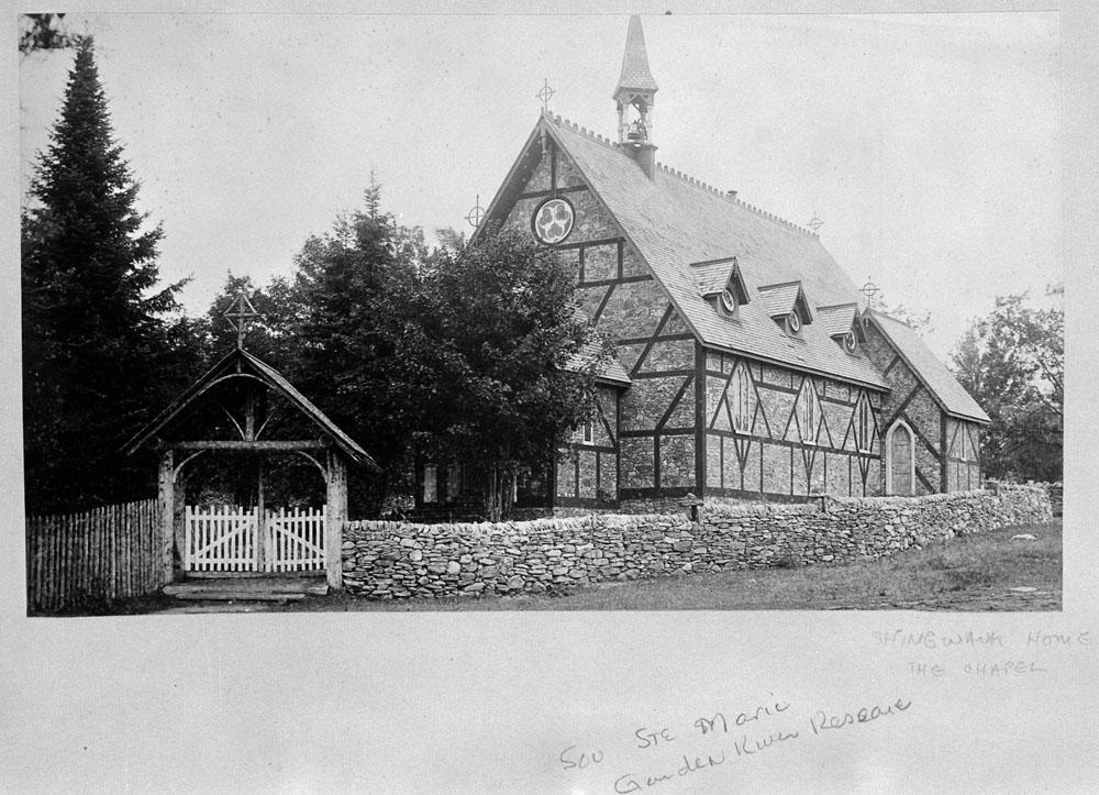The chapel of the Shingwauk Residential School circa 1886